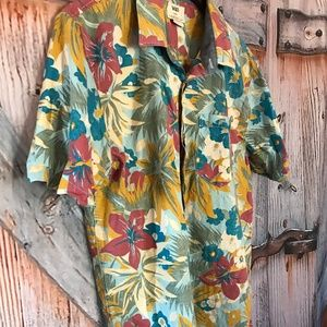 VANS Men's Hawaiian Floral Print Sz Large